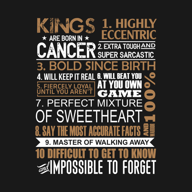 Kings Are Born In Cancer Shirt June July Birthday Gifts Men
