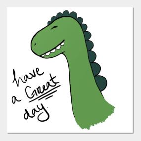 Happy Dino Wall Art