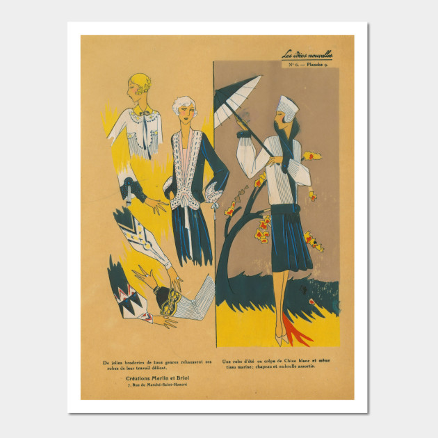 Vintage Fashion - Retro #505 - Vintage - Wall Art | TeePublic