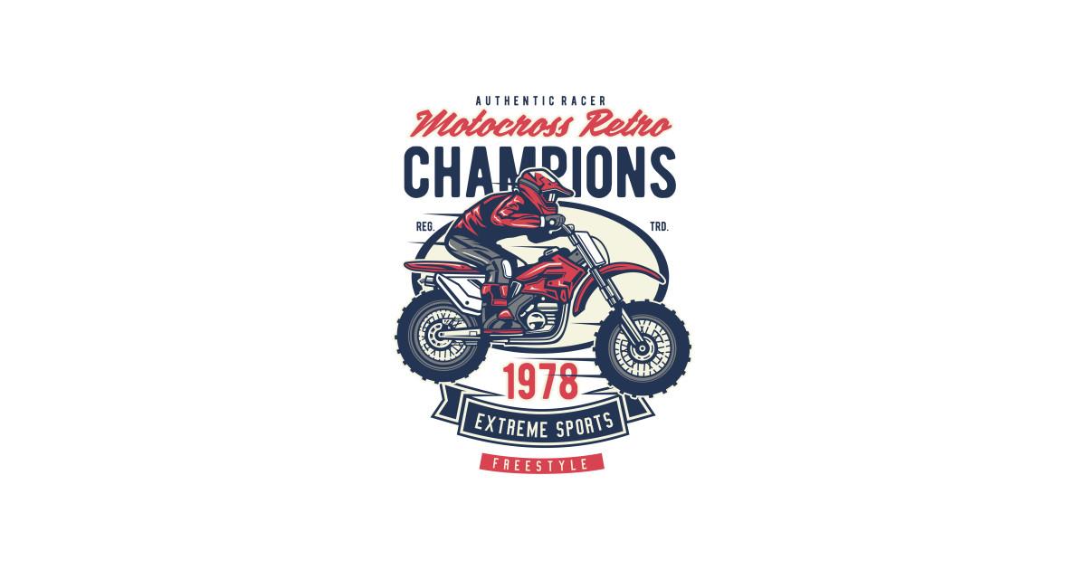 cc25350f Motocross Retro Champion - Motocross Retro Champion - T-Shirt ...