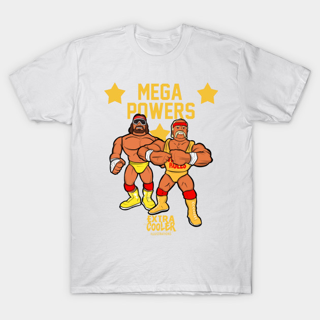 Mega Powers Illustration T-Shirt-TOZ