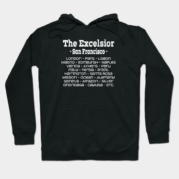 Excelsior District SF Street Names Shirt