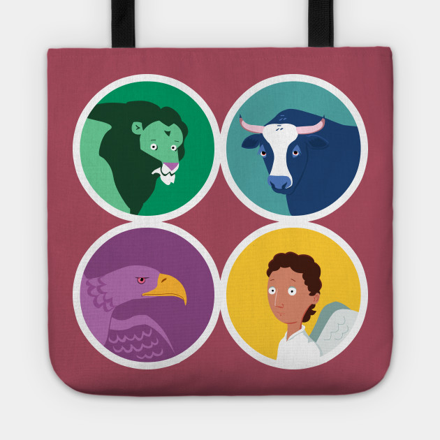 The Four Evangelists Their Symbols Four Evangelists Tote