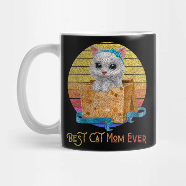 Vintage Best Cat Mom Ever T-Shirt Mother's Day Gitfs Mug