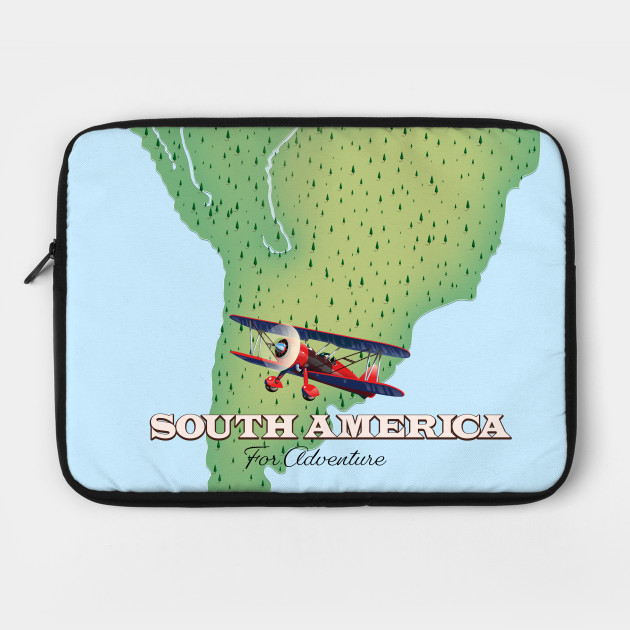 south american travel map
