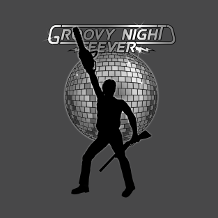 Groovy night fever. t-shirts