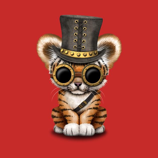 Steampunk Baby Tiger Cub