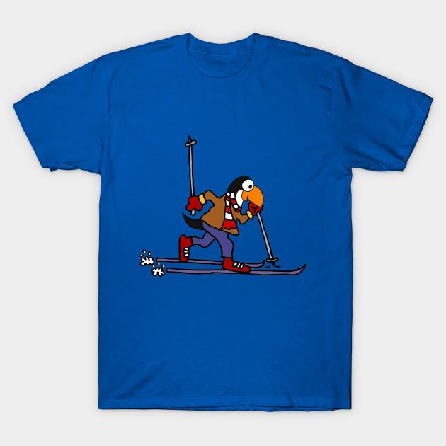 c7c91fd8 Cute Penguin cross country Skiing Cartoon - Penguin - T-Shirt ...