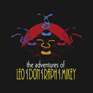 The Adventures of Turtle Brothers t-shirts