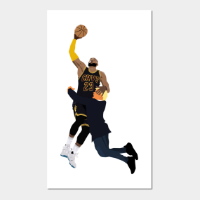 378d51d61fb8 LeBron James dunk on Donald Trump Posters and Art