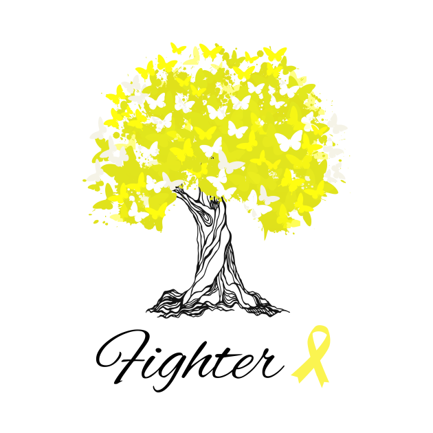 Raising Support & Awareness Fighter Tree With Butterflies