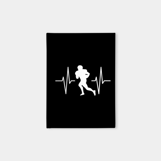 Football Player Heartbeat Football Player Gift