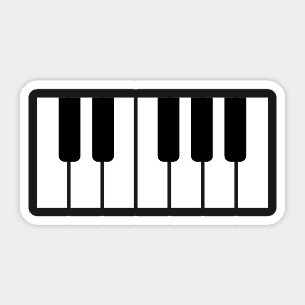 picture relating to Piano Key Stickers Printable titled Piano Keys