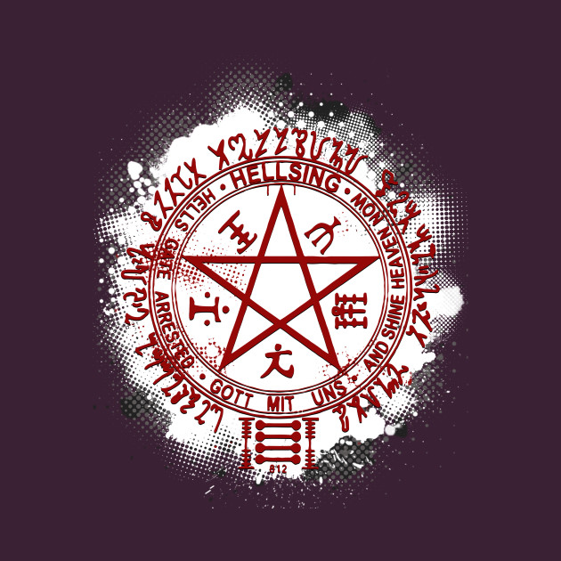 Hellsings Pentagram Hellsing T Shirt Teepublic Uk