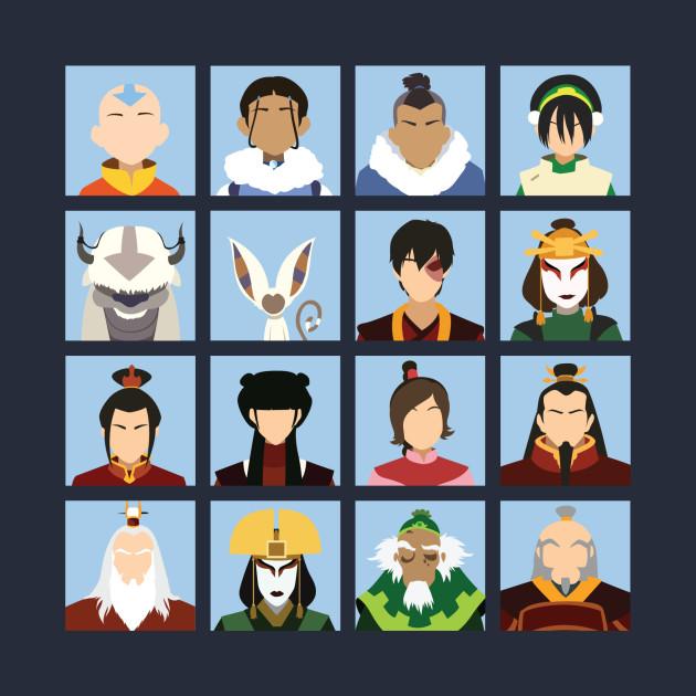 Avatar Cast: Avatar Cast - Avatar The Last Airbender - T-Shirt
