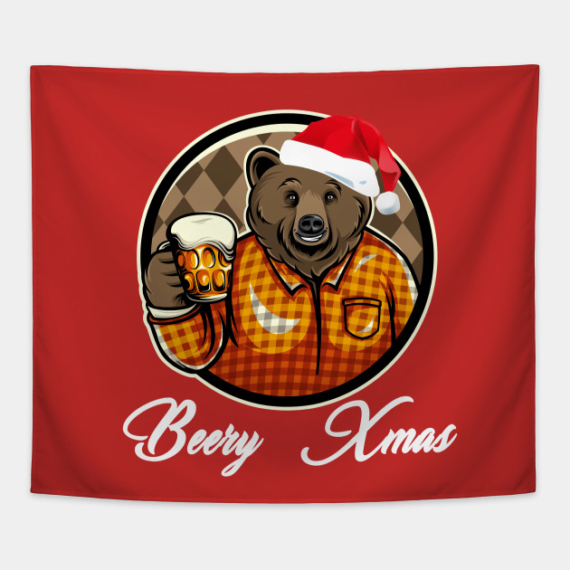 Home Brewer Gift for Beer Lovers Homebrewer Beer Drinker Christmas Tapestry