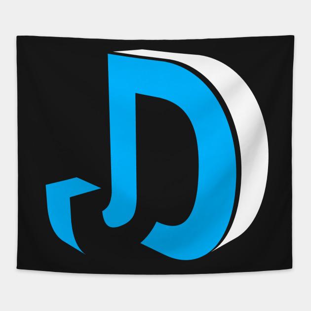 jd logo jdudetv tapestry teepublic jd logo
