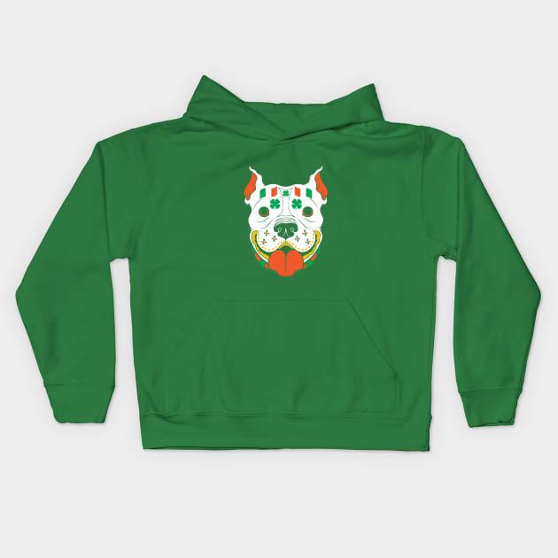 bd4e08116 St Patrick's Day Sugar Skull Pitbull Ireland Flag - St Patrick ...