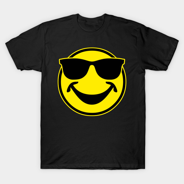 COOL yellow SMILEY BRO with sunglasses