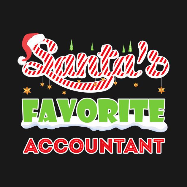 Christmas Accountant.Santan S Favorite Accountant Christmas T Shirt