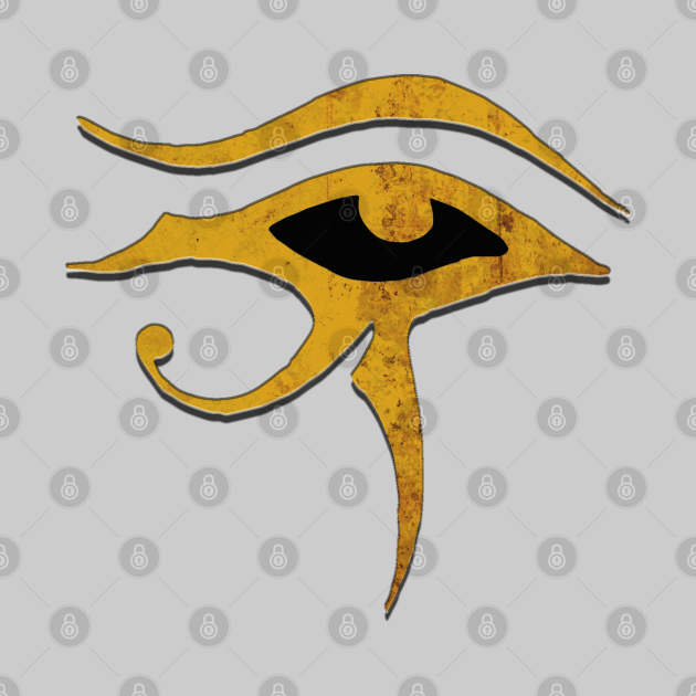 Eye of Ra All Seeing Eye in Rustic Gold