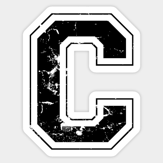 Initial Letter C Black Jersey Sports Athletic Player Jersey Letter