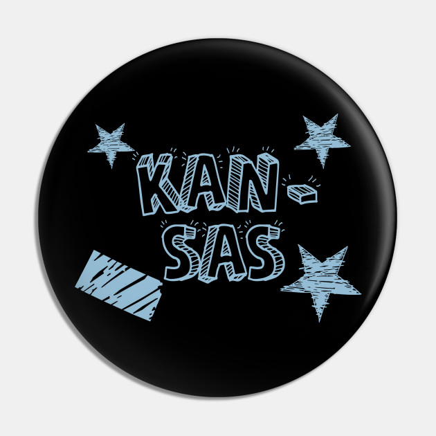 Kansas with State, Stars and Stripes