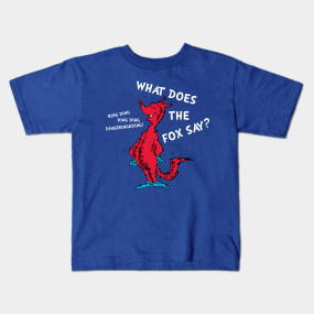 What Does The Fox Say Kids Shirt