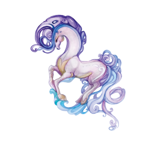 Fairy Pony, Watercolor drawing t-shirts