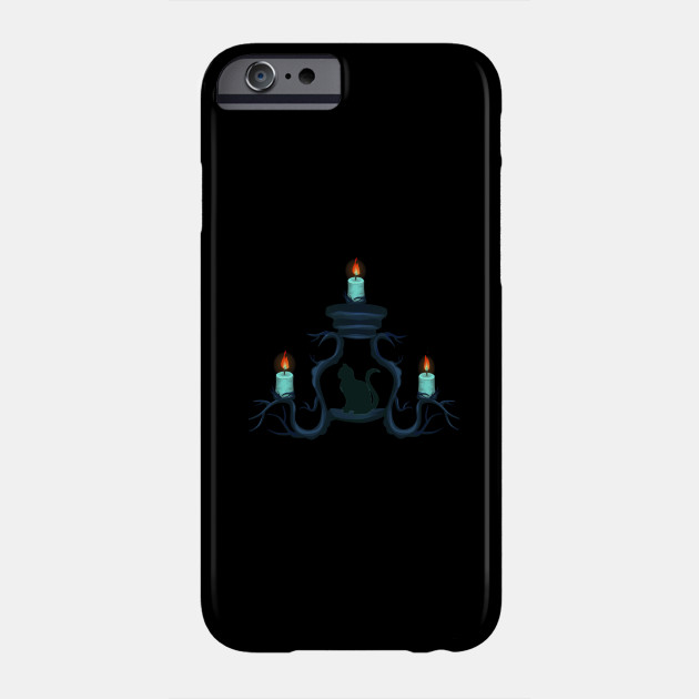 Candlestick with cat, Halloween, Phone Case