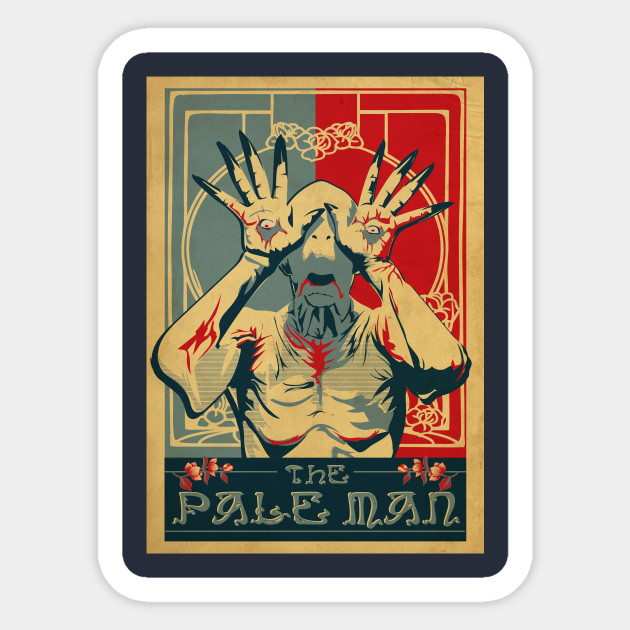 Pale man sticker