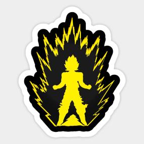 Pegatinas Dragon Ball Z Super Saiyan Goku  b75824ddaf97