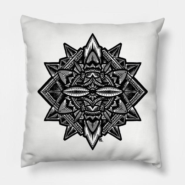 Sacred Geometry Flower Of Life Mandala Merkaba Pillow Teepublic
