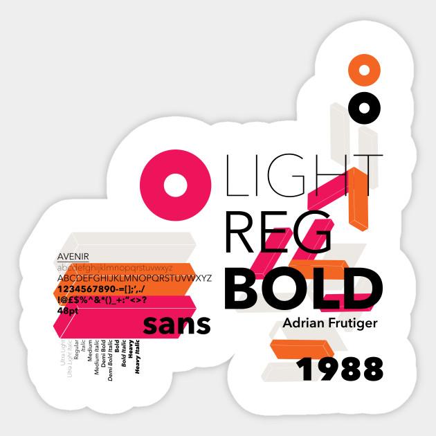 Avenir Typography Text Abstract Geometric Avenir Font Design