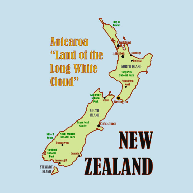 A Map Of New Zealand.New Zealand Map