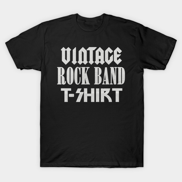 166d8a7e Vintage Rock Band T-shirt - Music - T-Shirt | TeePublic
