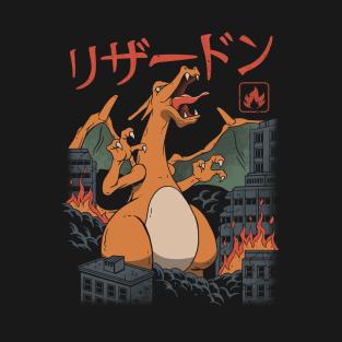 Fire Kaiju t-shirts