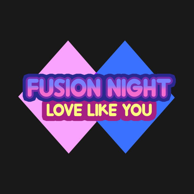 Pink Blue Fusion Night Steven Universe T Shirt