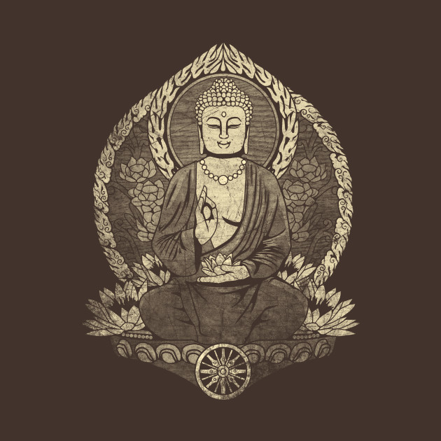 Siddhartha Gautama Buddha Grunge Halftone