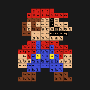 Periodic Mario Table t-shirts