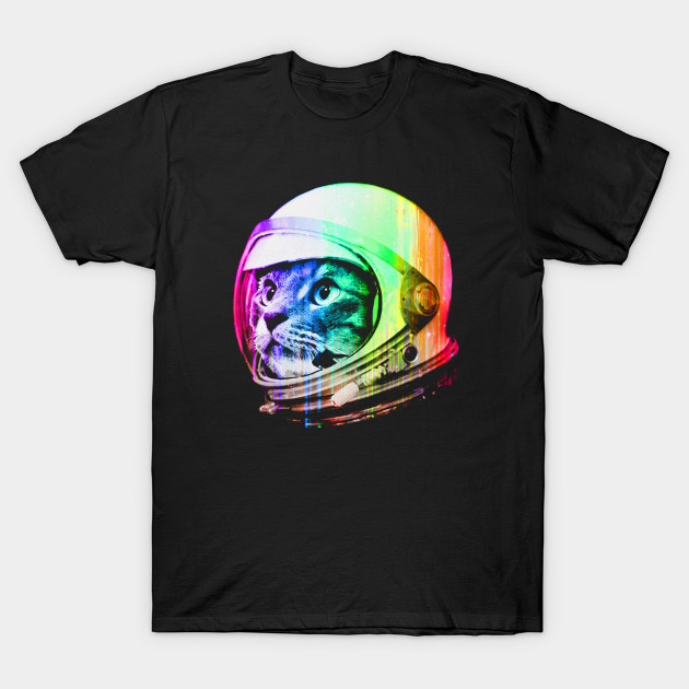 Astronaut Space Cat T-Shirt-TOZ
