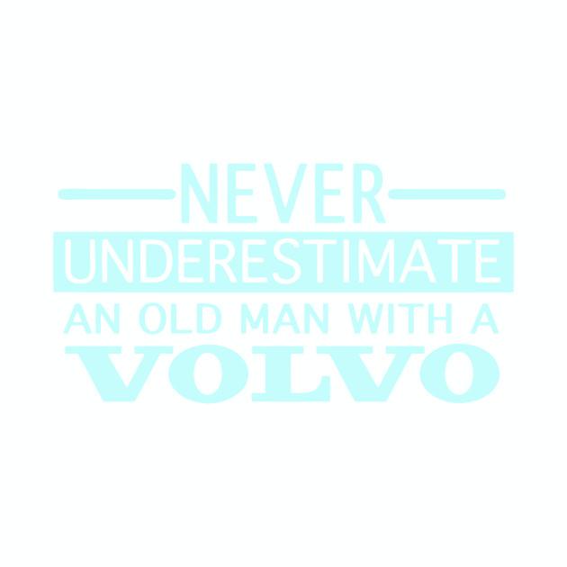 Volvo top never underestimate an oldman l//sleeve retro top dad birthday