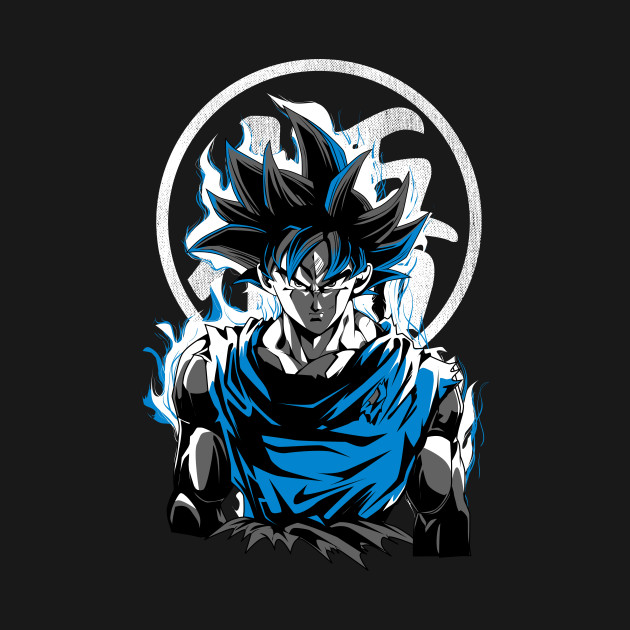 goku ultra instinct goku t shirt teepublic. Black Bedroom Furniture Sets. Home Design Ideas
