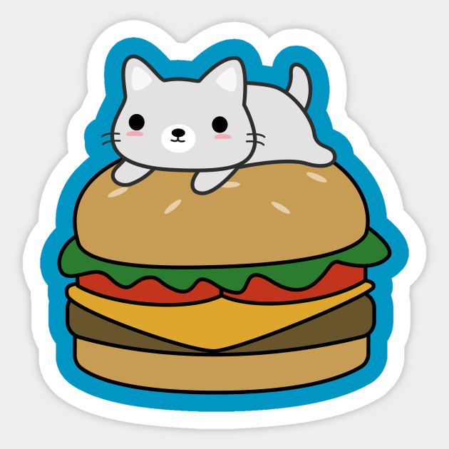 Cute Hamburger Cat T-Shirt