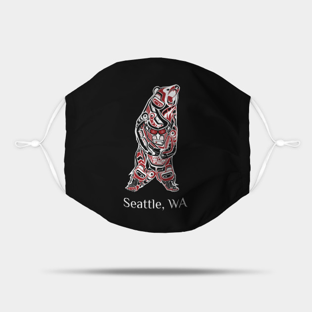 Seattle Washington Native American Indian Brown Grizzly Bear Gift