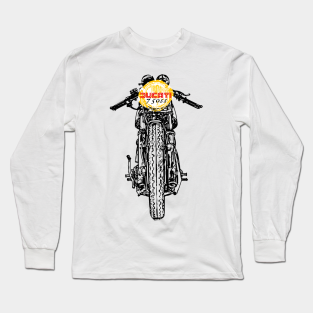 Ducati T shirt Long sleeve motorbike motorcycle biker vintage