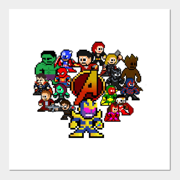 Marvel Avengers Infinity War Pixel Art