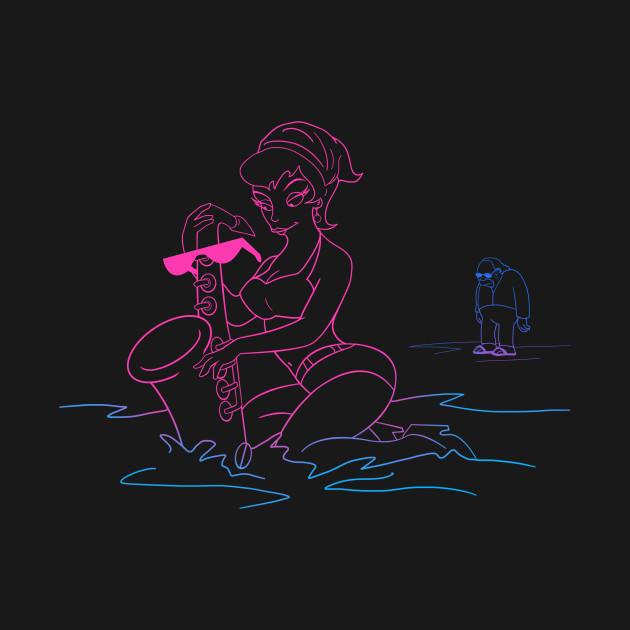 Sax On The Beach - Neon