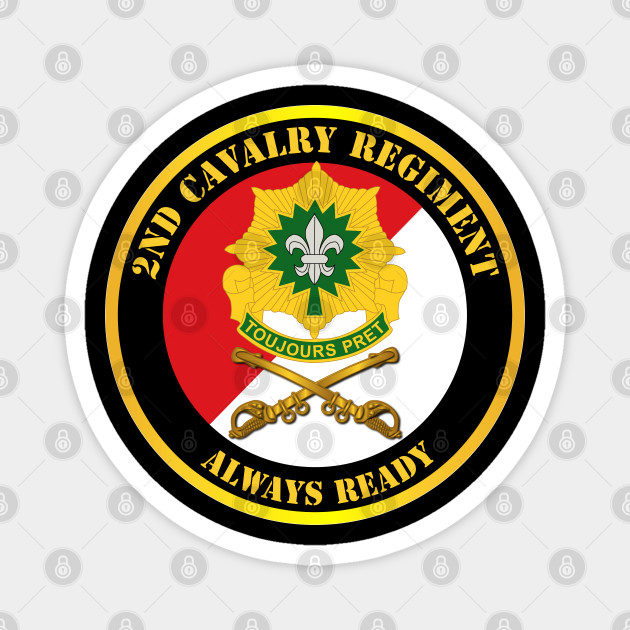2nd Cavalry Regiment DUI - Red White - Always Ready