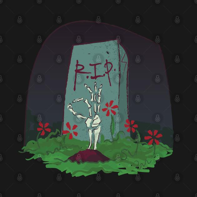 Skeleton grave flowers R.I.P. Bone hand gift